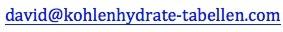 email Kohlenhydrate Tabellen David