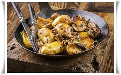 Nährwerttabelle Kartoffeln Pilze| www.kohlenhydrate-tabellen.com