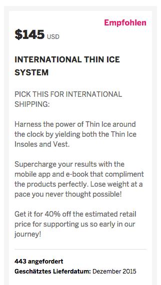 Thin Ice Abnehmweste bestellen