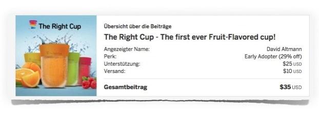 IndieGoGo: The Right Cup bestellen