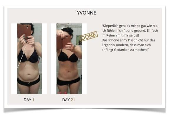 Erfahrungen Programm 21: Yvonne