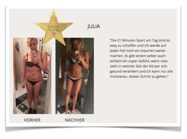 Programm 21 Erfahrungen: Julia