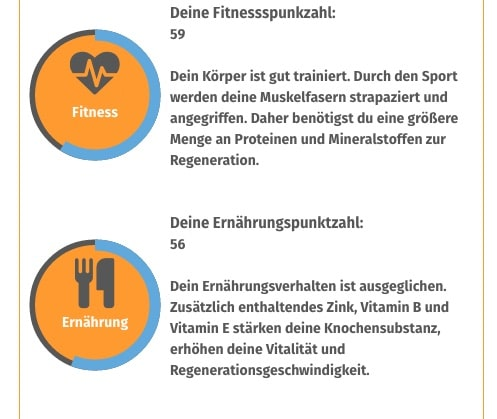 Supplimo Fitnesstest Ergebnis