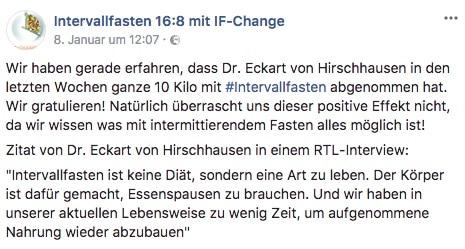 Abnehmen mit Intervallfasten | Hirschhausen