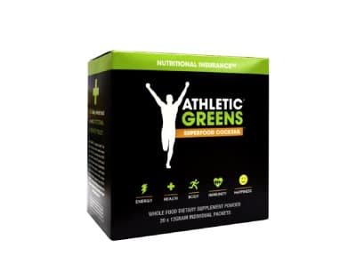 Athletic Greens Travelpack Rabatt Packung