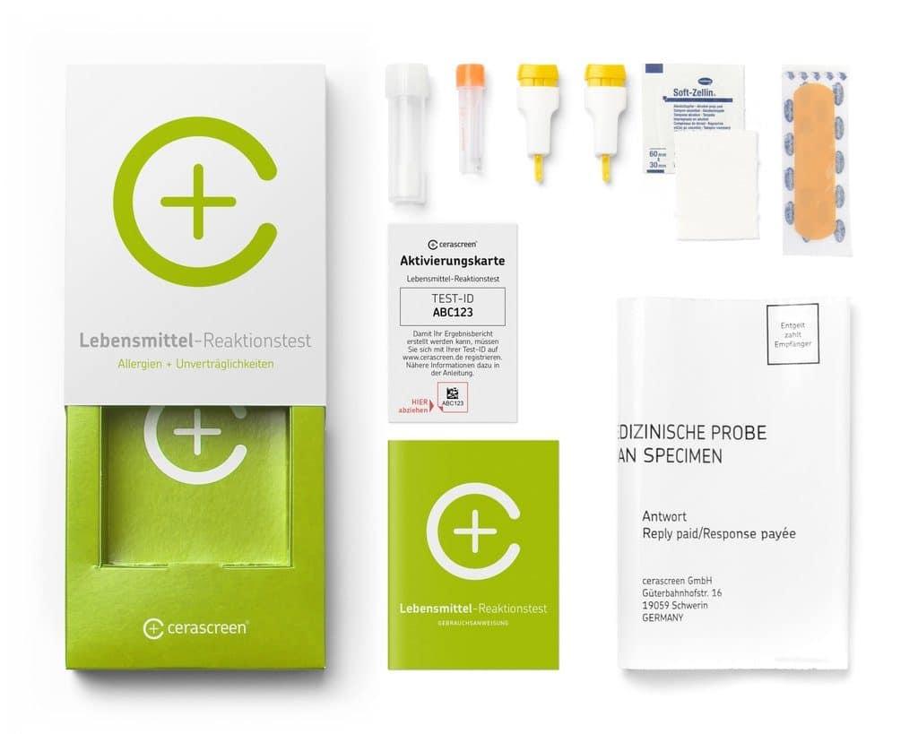 Cerascreen Lebensmittel Reaktionstest Kitinhalt