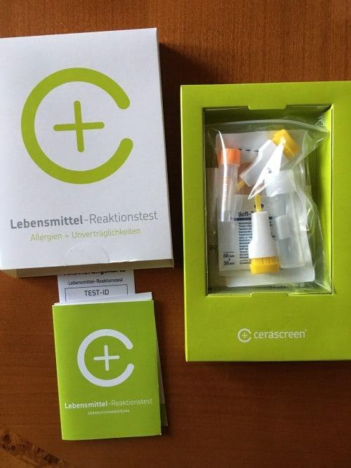 Cerascreen Lebensmittel Reaktionstest Testkit Foto