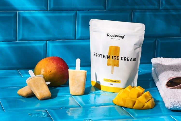Foodspring Eiscreme Mango getestet