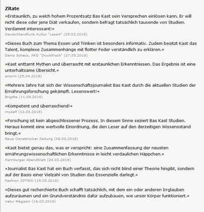 "Pressestimmen zu ""Der Ernährungskompass"""
