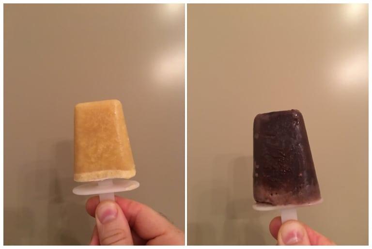 Foodspring Eis: Maracuja und Schokolade