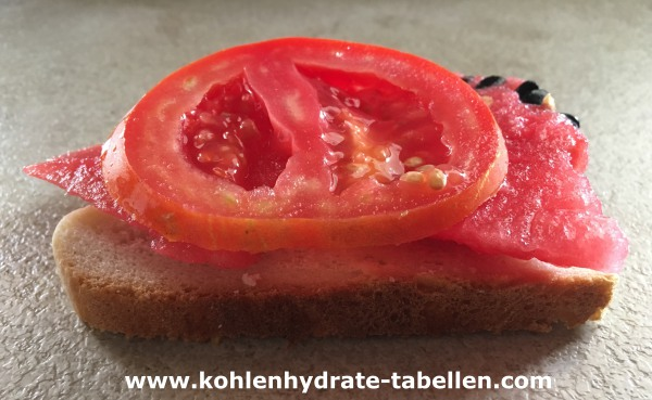 Wassermelonentomatenbrot | Kohlenhydrate-Tabellen.com