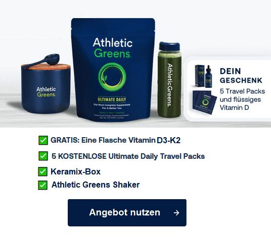 Athletic Greens Aktion 2021